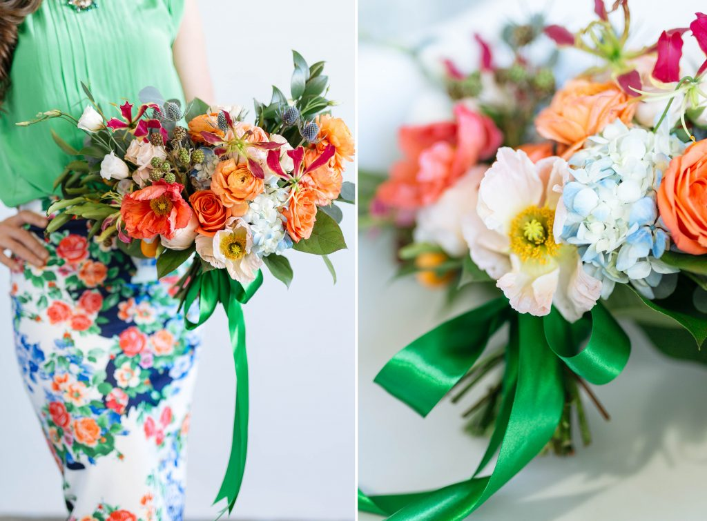 Floral Designer Fashion, inspiration for designing flowers with floral prints, Smith House Photography