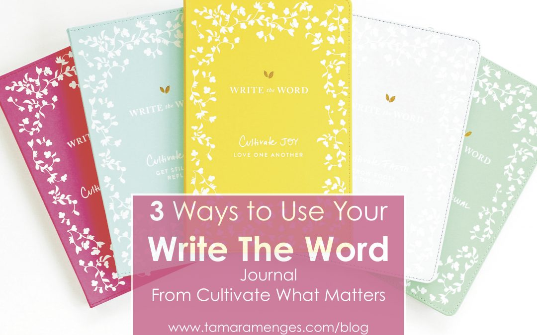 Write The Word Journal- 3 Ways to Use!