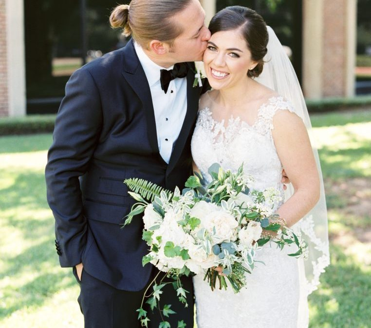 Colby and Andrew's Perfect Neutral and Textured Wedding Floral